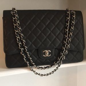 Handbags - Additional Pics - Chanel Black Caviar Maxi